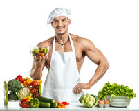Bodybuilder cook Stock Photography