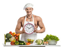 Bodybuilder cook Stock Image