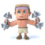 Bodybuilder 3d arbeitet aus Stockbild