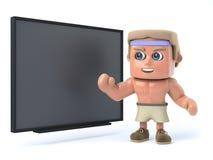 Bodybuilder 3d unterrichtet die Klasse Lizenzfreies Stockfoto
