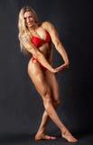Bodybuilder da mulher fotografia de stock