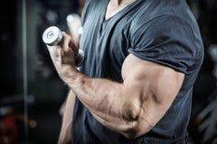 Bodybuilder dans la formation Photos stock