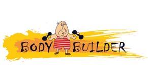 Bodybuilder de dessin animé Image libre de droits