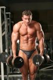 bodybuilder in de gymnastiek Stock Foto's