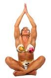 Bodybuilder de la mujer de la yoga Imagenes de archivo