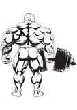 Bodybuilder de mening van de rug Stock Foto