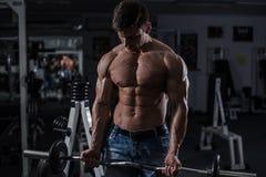 Bodybuilder in der Gymnastik Lizenzfreies Stockfoto
