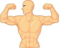 Bodybuilder, der Muskeln biegt Lizenzfreie Stockbilder