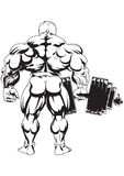 Bodybuilder die Ansicht von der Rückseite Stockfoto