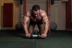 Bodybuilder Doing Abs Exercise Stock Photos
