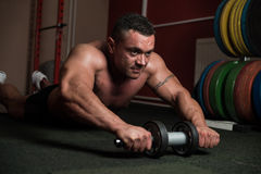 Bodybuilder Doing Abs Exercise Royalty Free Stock Photography