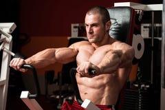 Bodybuilder Doing Exercise For Chest royalty free stock photo