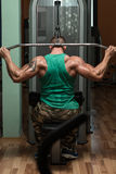 Bodybuilder Doing Heavy Weight Exercise For Back Stock Images