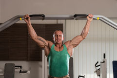 Bodybuilder Doing Pull Ups Best Back Exercises Royalty Free Stock Images