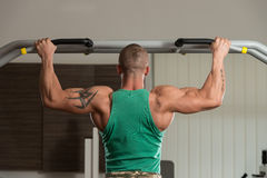 Bodybuilder Doing Pull Ups Best Back Exercises Royalty Free Stock Photo