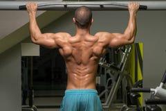 Bodybuilder Doing Pull Ups Best Back Exercises Royalty Free Stock Photo