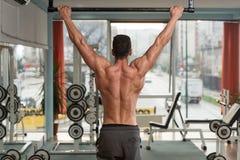 Bodybuilder Doing Pull Ups Best Back Exercises Royalty Free Stock Images