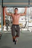Bodybuilder Doing Pull Ups Best Back Exercises Royalty Free Stock Photos