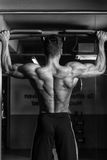 Bodybuilder Doing Pull Ups Best Back Exercises Stock Photo