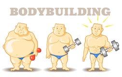 Bodybuilder drôle Photos libres de droits