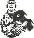 Bodybuilder with dumbbell Royalty Free Stock Image