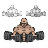 Bodybuilder with dumbbells Royalty Free Stock Photos