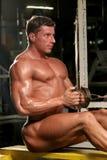 Bodybuilder en gymnastique Photos libres de droits