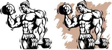 Bodybuilder estilizado libre illustration