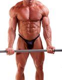 Bodybuilder exercising Stock Photo