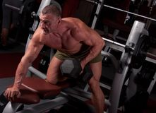 Bodybuilder exercising Royalty Free Stock Images