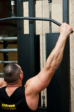 Bodybuilder exercising  Stock Photography
