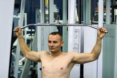 Bodybuilder exercising Royalty Free Stock Image