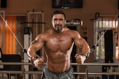 Bodybuilder Exercising Chest Royalty Free Stock Photo