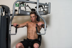 Bodybuilder Exercising Chest Royalty Free Stock Image