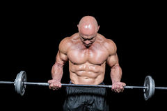 Bodybuilder exercising with crossfit Stock Image
