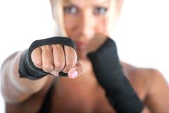 Bodybuilder féminin Photographie stock libre de droits