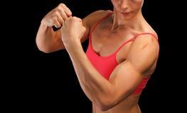 Bodybuilder fêmea da aptidão foto de stock