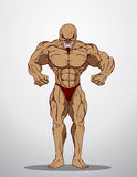 Bodybuilder Fitness Illustration Stock Photography