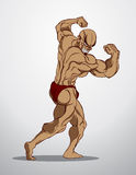 Bodybuilder Fitness Illustration Stock Photos