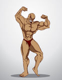 Bodybuilder Fitness Illustration Royalty Free Stock Photo