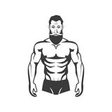 Bodybuilder Fitness Model Illustration. Aesthetic body Stock Photos