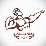Bodybuilder Fitness Model Illustration, Sign, Symb Royalty Free Stock Photo