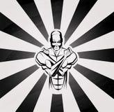 Bodybuilder Fitness  Symbol Royalty Free Stock Images
