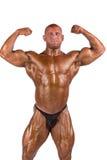 Bodybuilder flexing Stock Photo