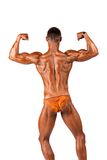Bodybuilder flexing Royalty Free Stock Image