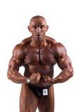 Bodybuilder flexing Royalty Free Stock Photography