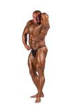 Bodybuilder flexing Royalty Free Stock Image