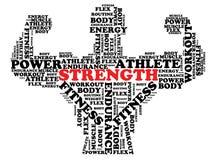 Bodybuilder Font Design Stock Images