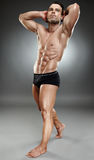 Bodybuilder full length Stock Photo