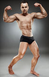 Bodybuilder full length Royalty Free Stock Images